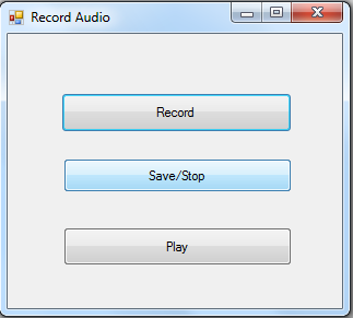 record voice in C#