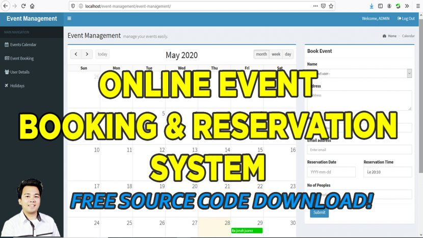 event management system in php