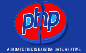 add date and time in php