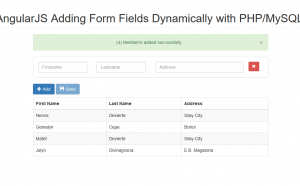 add form fields using angularjs