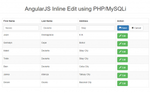 inline edit using angularjs