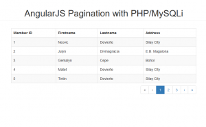 pagination using angularjs