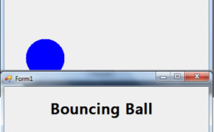 bouncing ball in c#