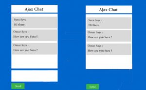 ajax chat application with php