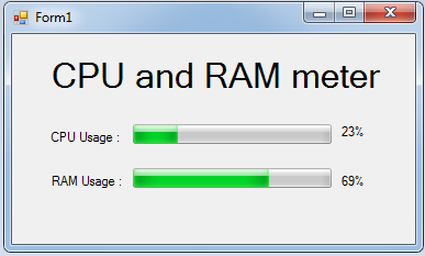 ram and cpu meter in c#