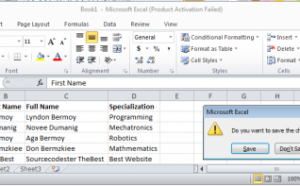 excel application in c#