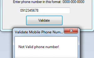 valid phone number in c#