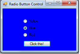 radio button in c#