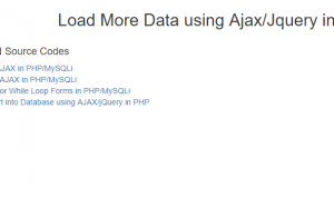 load more data php ajax