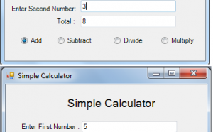 calculator in c#
