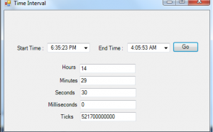time interval in c#
