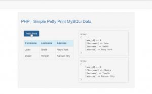 simple print mysql data using php