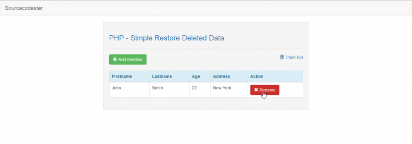 restore deleted data in php