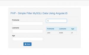filter mysqli data using angularjs in php
