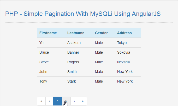 pagination with mysqli using angularjs in php