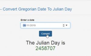 Convert Gregorian Date To Julian Day