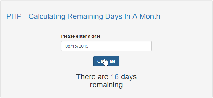 Calculating Remaining Days