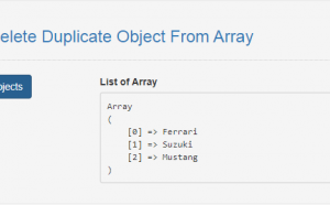 php remove duplicates from array