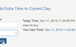 add extra time in current day