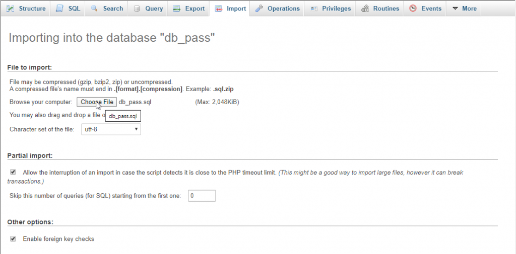 create json file from mysqli in php