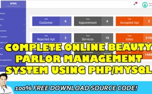 beauty parlor management system in php