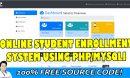 online student enrollment in php
