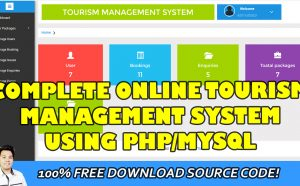 tourism management system in php