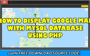 display google Map with mysql database using php