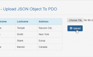Upload JSON Object To PDO