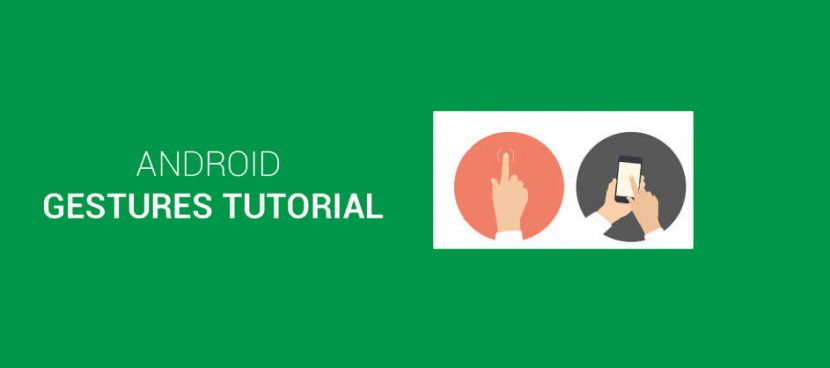 android gesture tutorial in android studio