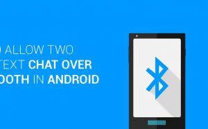 chat over bluetooth in android studio