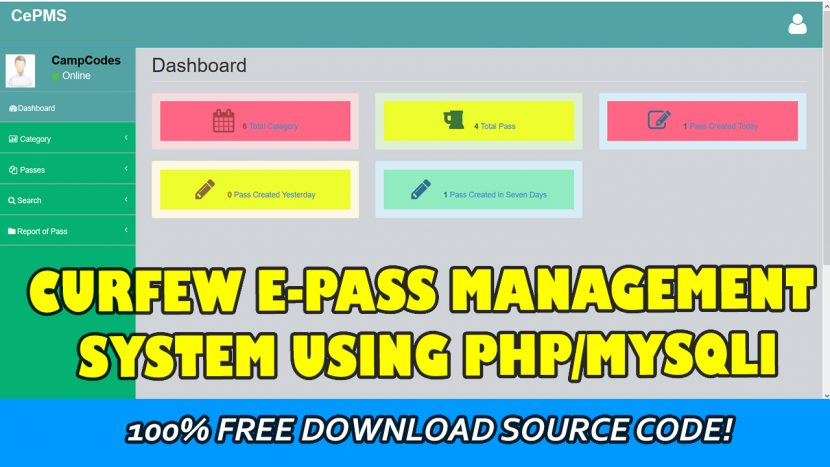 curfew epass management system in php