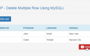 delete multiple row using mysql