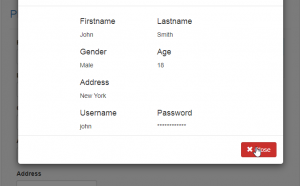 display user details in php