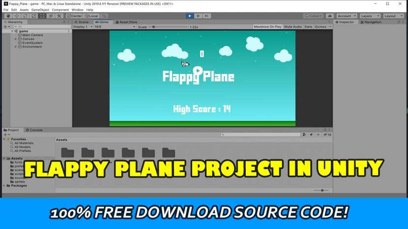 flappy plane unity game