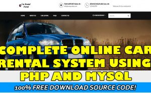 online car rental system in php and mysql