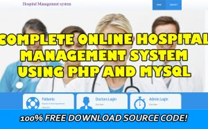 online hospital management system in php