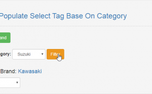 populate select tag base on category using php