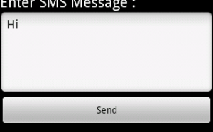sms using smsmanager in android studio