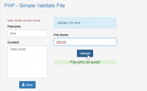 validate file in php