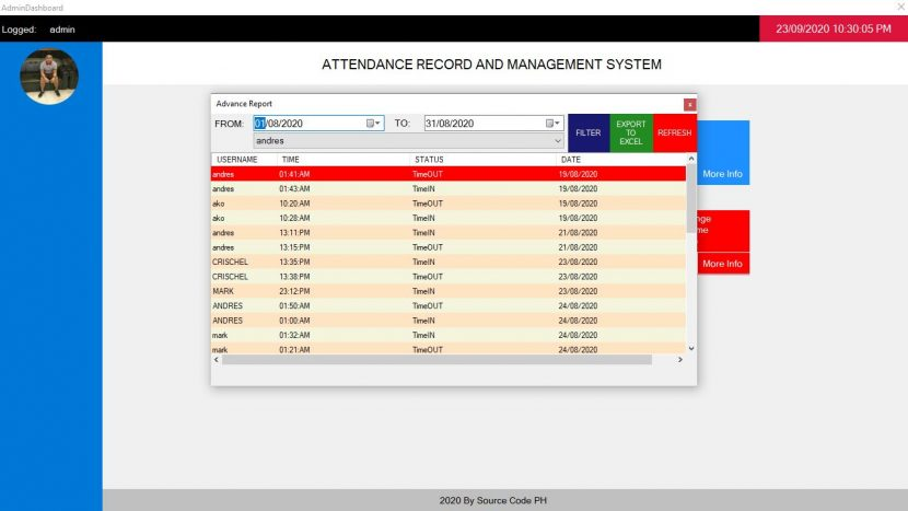 attendance record and management system