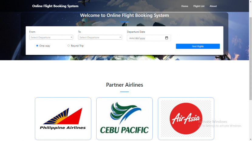 online flight booking management system