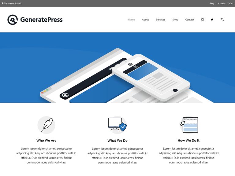 GeneratePress Premium WordPress Theme V2.0.2 Latest Version Free Download    Free Source Code