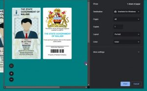 Printable Staff ID Card Creator System using php