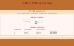 online polling system project free download
