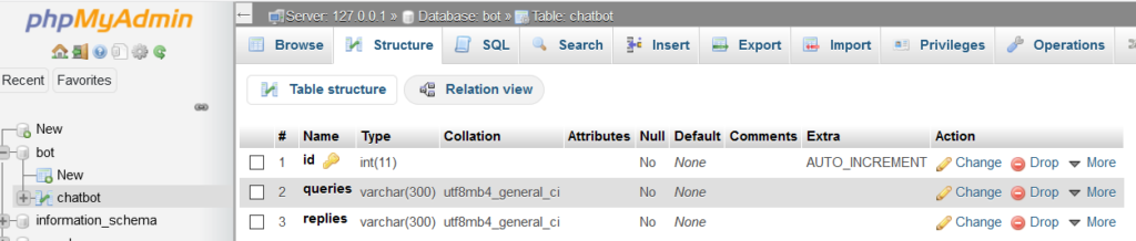 how to create an online chatbot in php mysql