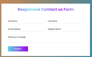 responsive contact us form