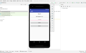 login and registration form in android studio